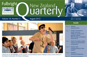 Fulbright New Zealand Quarterly, August 2012
