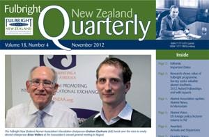 Fulbright New Zealand Quarterly, November 2012