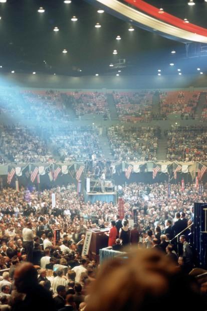 1960 Democratic Convention, LBJ at rostrum