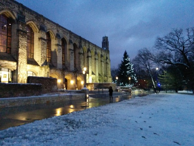 Northwestern University campus in winter