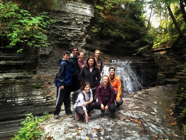 Joseph (back row, far right) pictured on a hike with classmates